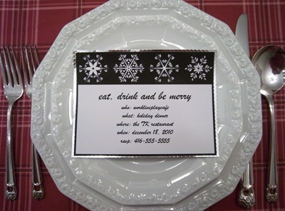 Holiday place cards