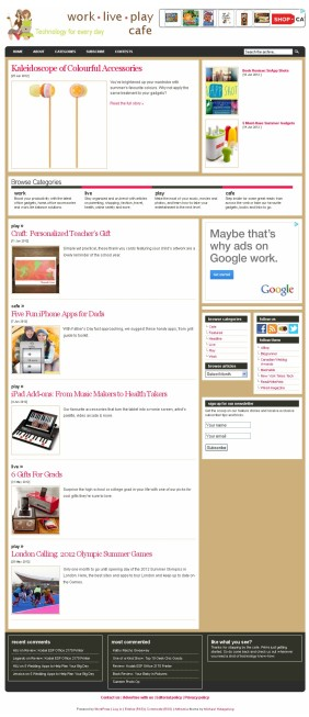 WorkLivePlayCafe homepage
