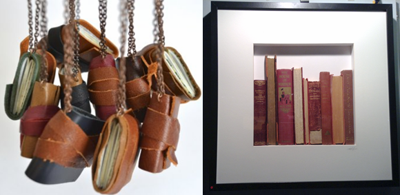 One of a kind show, Bookwork, noelle hamlyn, sporouts press, necklaces, books,